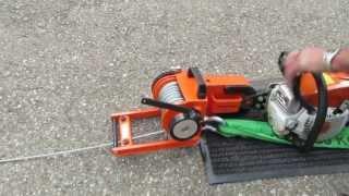 Seilwinden für Motorsägen Anbau / Lewis Winch 400 mit MS 271