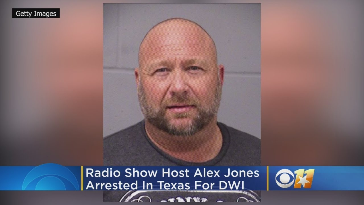 InfoWars host Alex Jones charged with a DWI in Texas