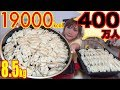 【HIT 4 MILLION SUBSCRIBERS!!】 THE BEST 400 Dumplings EVER!! MAKE & EAT IT! 8.5Kg 19000kcal[Use CC]