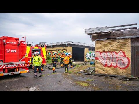 11.05.21 Endnu engang brand i den nedlagte Basta låsefabrik i Korsør
