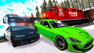 Police Chases vs Sports Cars crashes #16 - Beamng drive