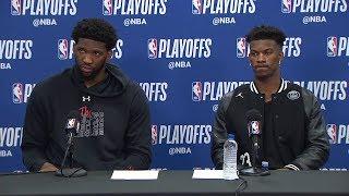 Joel Embiid & Jimmy Butler Postgame Interview - Game 3 | Raptors vs 76ers | 2019 NBA Playoffs