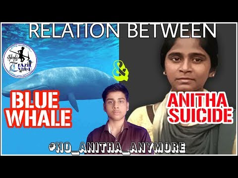 Relation between BLUE WHALE & ANITHA'S SUICIDE~Awarness|Tamil Crazie Cyber-Crazie tamizhan