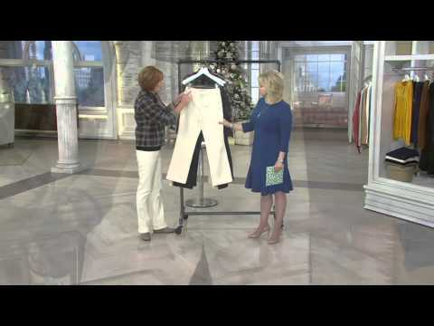 Liz Claiborne New York Hepburn Bootcut Trousers On Qvc