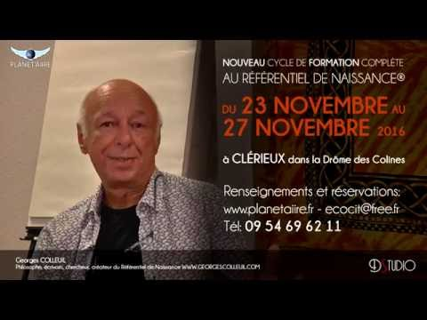 FORMATION AU REFERENTIEL DE NAISSANCE® Avec Georges COLLEUIL DU 23 AU 27 NOVEMBRE 2016