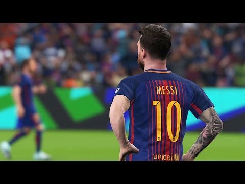 PES 2018 - FC Barcelona vs Real Madrid CF - Gameplay (PS4 HD) [1080p60FPS]