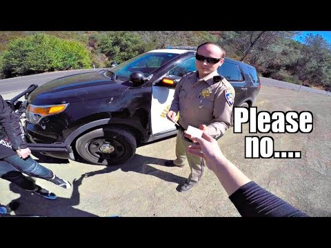 PULLED OVER ON HER DAD'S BMW S1000RR
