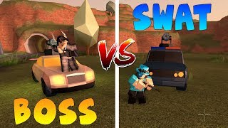 BOSS VS SWAT EQUIPO EN JAILBREAK! (Roblox)