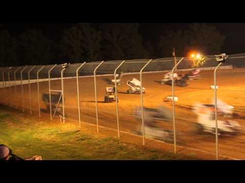 Sprints flipping at Ark-La-Tex Speedway 4-26-2014