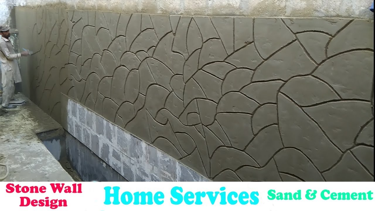 Home Decor Cement Wall Design Wall Decor Ideas Youtube