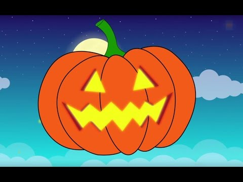 Jack-o'-lantern Song | Halloween pumpkin animation and music for children