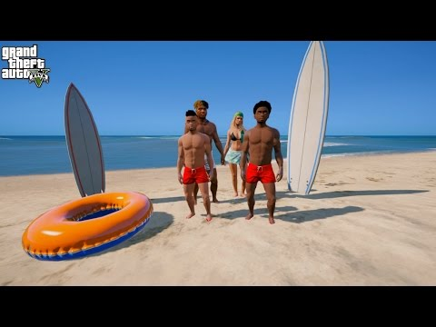 GTA 5 REAL LIFE KIDS MOD #2 BEACH ADVENTURES ON GOOD FRIDAY!