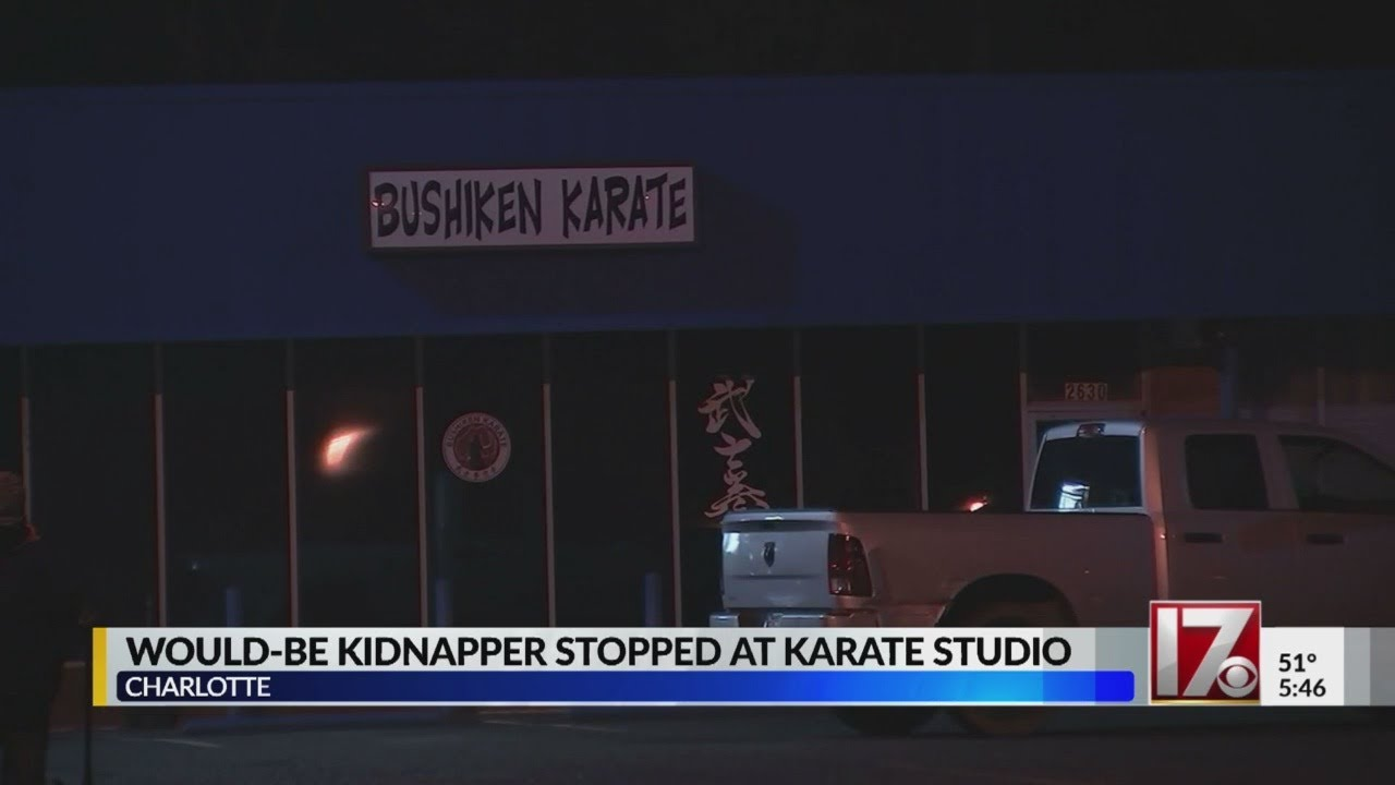 NC kidnapping attempted stopped as suspect runs into karate studio