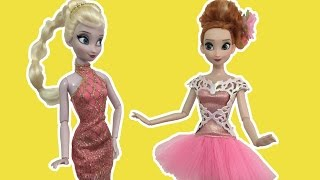 Elsa and Anna Disney Princess Style Makeover Party! Makeup Dress Up Dolls Movie!