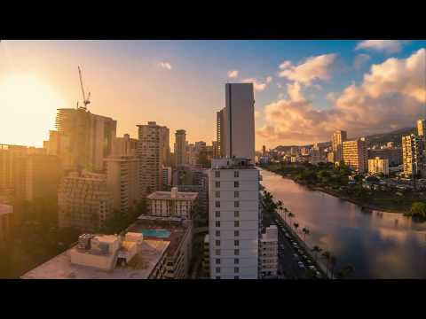 Skyline Sunset Time-Lapse | 4K | Honolulu, Hawaii