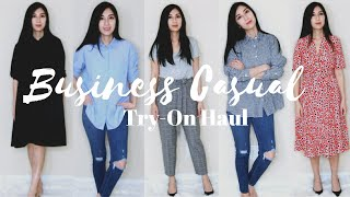 Business Casual Try-On Haul Uniqlo JCrew Express | Alexa StyleBook