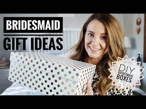 DIY BRIDESMAID GIFT BOXES | LUCIE AND THE BUMP WEDDING