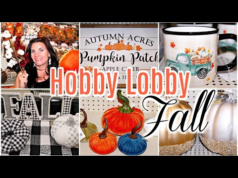 "🍁HOBBY LOBBY FALL 2019 DECOR SHOPPING🍁SHOP WITH ME NEW FALL FINDS ""I Love Fall"" Series ep. 2"