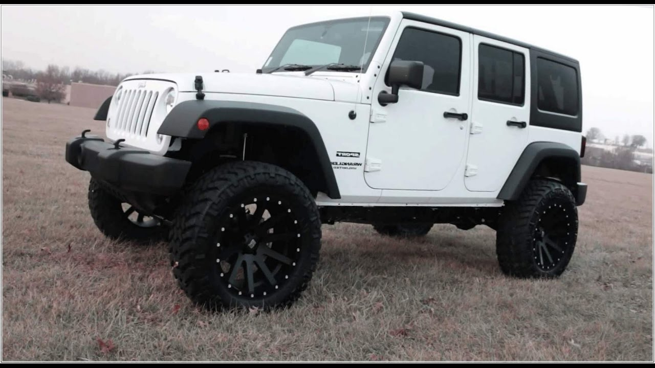 white and black jeep wrangler 4 door hardtop reviews youtube. Black Bedroom Furniture Sets. Home Design Ideas