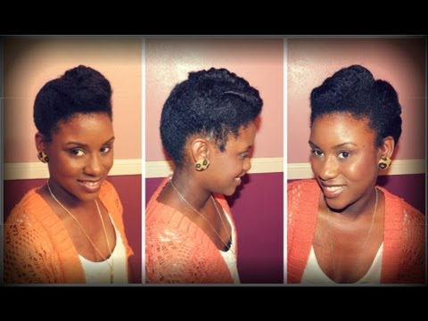 natural hair twisted roll tuck