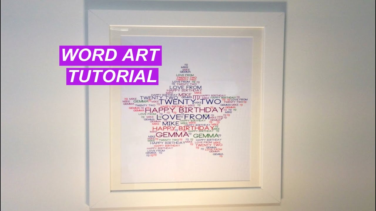 Word Art Tutorial