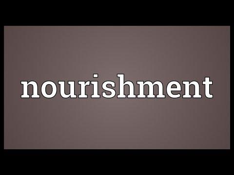 Nourishment Meaning