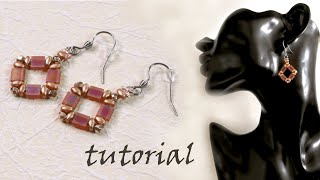Myiuki Tila & Matubo Miniduo Bead Earrings | Bead tutorial