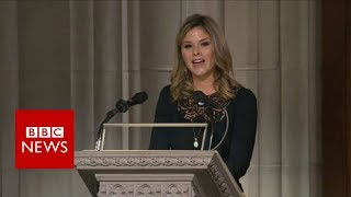 Jenna Bush gives second reading - BBC News