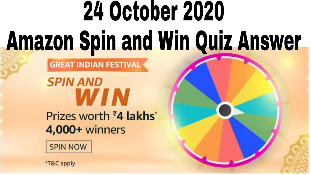 Amazon Great Indian Festival Quiz Answer Today Win 4 Lakhs 24 October To 10 November 2020 Youtube