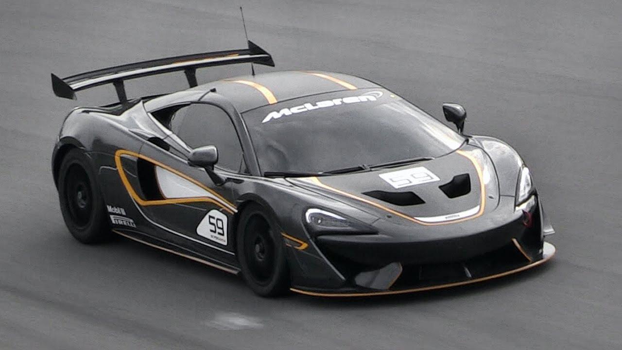 McLaren 570S GT4 Race Car Testing At Monza Circuit!! - YouTube