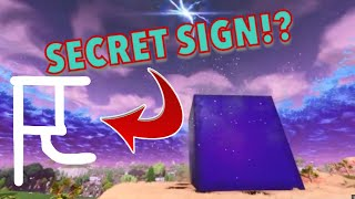 Signes secrets sur le cube Fortnite?!