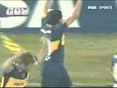 Boca-Libertad (Gol de Riquelme) 1-0