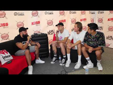 None - Interviewing Sir Sly at Bunbury 2018