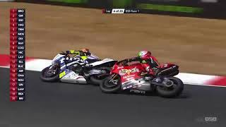 BSB British Superbike 2018 Round 6 Brands Hatch  Race 1