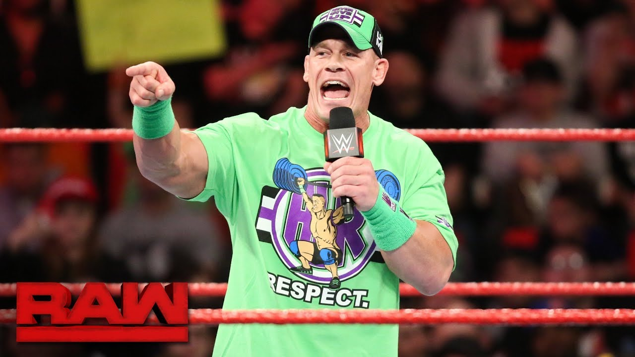 95063582ff WWE Raw results: WrestleMania matches set up with John Cena challenging The  Undertaker and Roman Reigns suspended