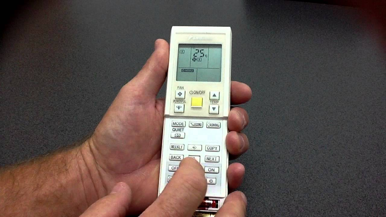 Changing The Batteries On Your Daikin Remote Control Youtube