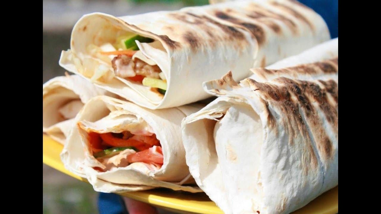 Рецепт Шаурма в лаваше с курицей.Recipe of Shawarma in a ...