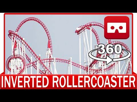 360° VR VIDEO – EXTREME Inverted Roller Coaster Mirage Rosso POV Fabbri Front Seat