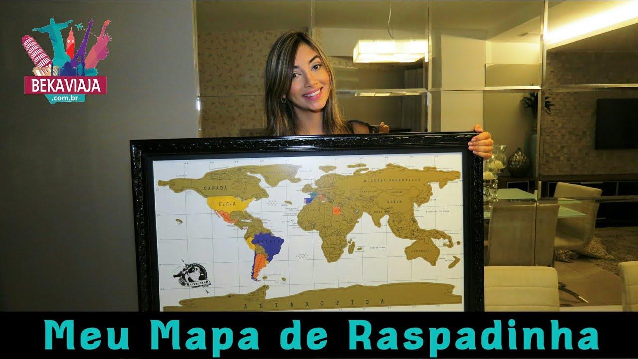 mapa mundi raspar Mapa Mundi de Raspadinha + bate papo sobre viagens   YouTube mapa mundi raspar