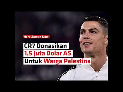 CR7 Donasikan 1,5 Juta Dolar AS Untuk Warga Palestina Di Bulan Ramadan