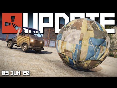 BALLS For Cars, RUST+ App | Rust Update 5th June 2020