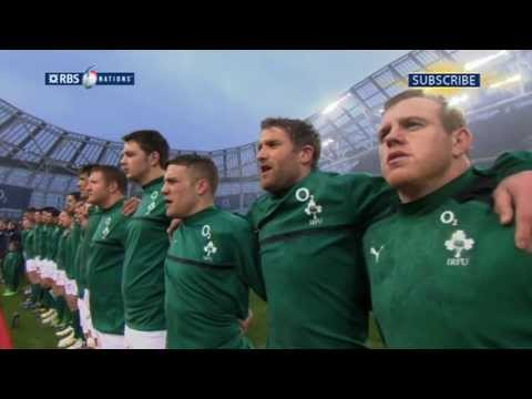 Irish national anthem Ireland v France 2013