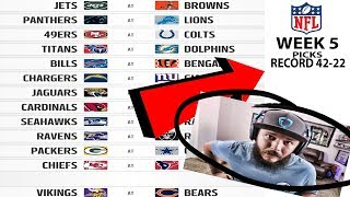 2017 NFL WEEK 5 PICKS!! SERIOUSLY THE PERFECT WEEK OF PICKS