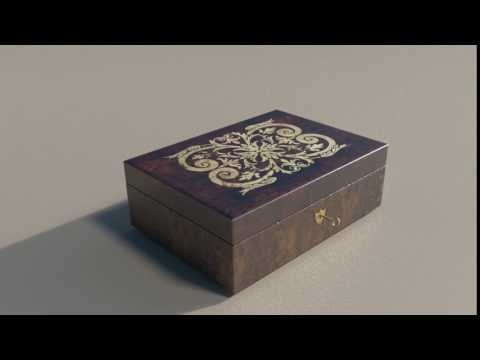 Vintage jewellry box - test render/animation