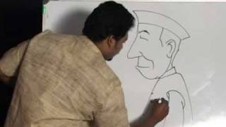 Easy steps to draw Gandhiji and Nehru
