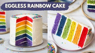Eggless Rainbow Cake from scratch  Epic 6- Layer Rainbow Cake at Home  Bake With Shivesh