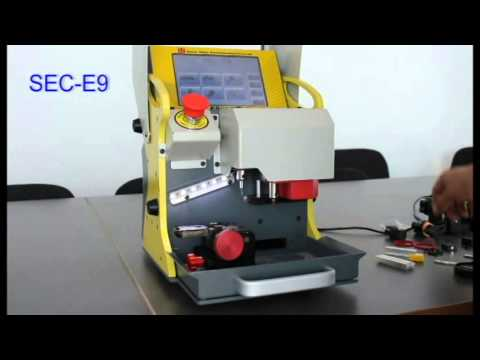 sec e9 automatic key cutting machine how to cut a key. Black Bedroom Furniture Sets. Home Design Ideas