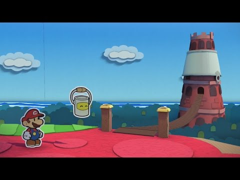 The Crimson Tower (Big Paint Star) - Paper Mario: Color Splash Walkthrough