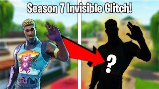 HOW TO BECOME *INVISIBLE* IN FORTNITE SEASON 7 GLITCH