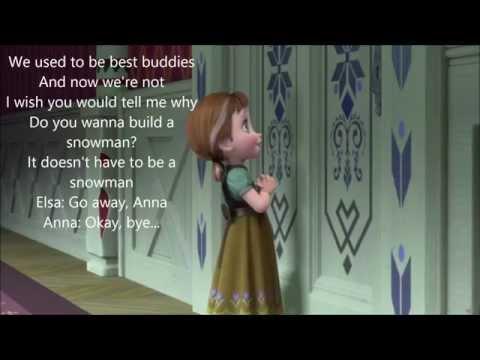 Do You Want To Build A Snowman? (w/ Lyrics) From Disney's Frozen